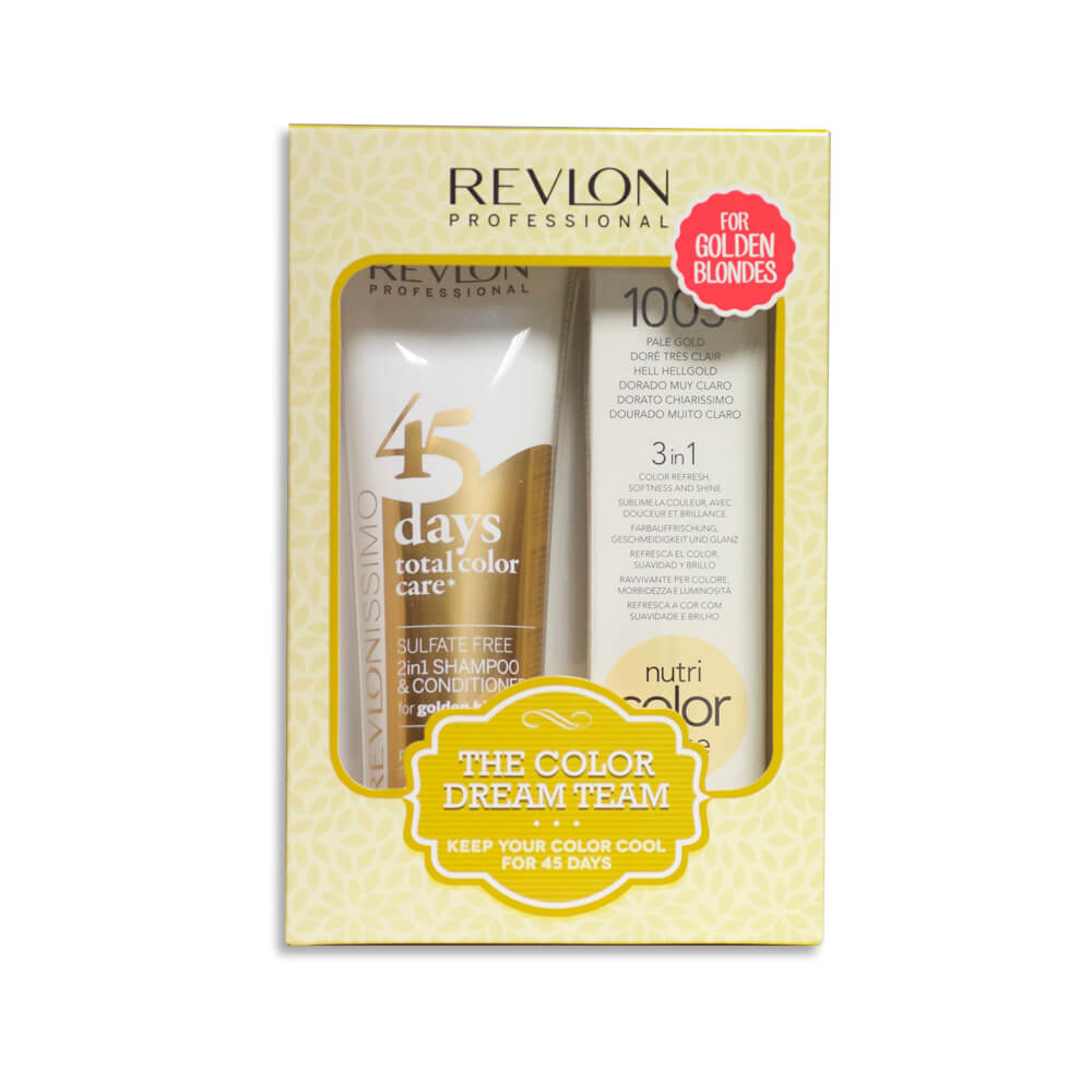 REVLON Professional 45 Days 1 Shampoo +1 Mask For Golden Blondes – Pale Gold c13e7d283e