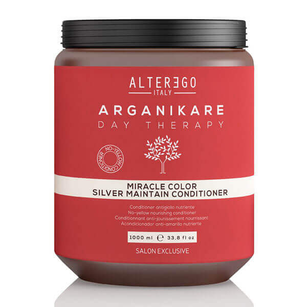 ALTER EGO ITALY Arganikare Day Therapy Miracle Color Silver Maintain Conditioner 1000ml