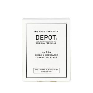 DEPOT No. 504 Beard & Moustache Cleansing Wipes 12 Bustine
