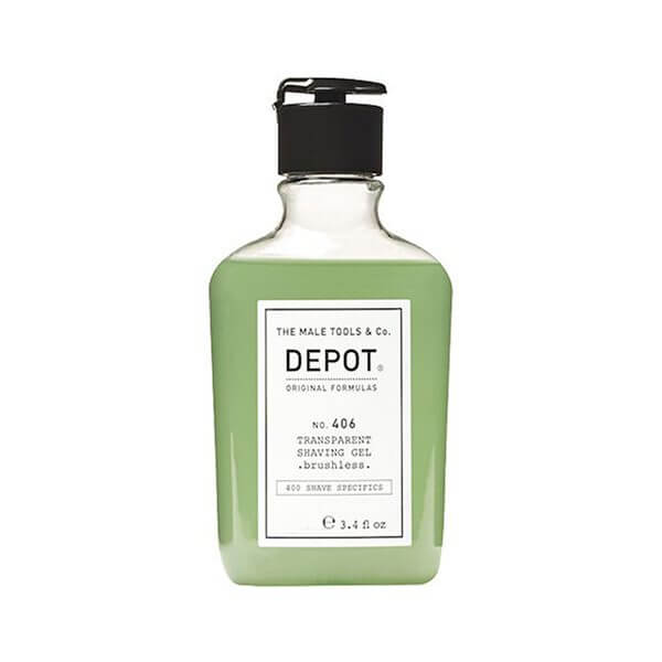 DEPOT Shave No. 406 Transparent Shaving Gel 200ml Rasatura Uomo